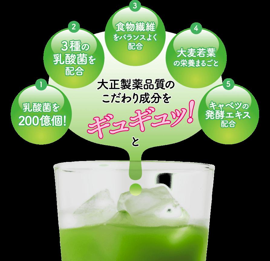 ヘルスマネージ乳酸菌青汁は乳酸菌を約200億個配合している!お腹スッキリの青汁