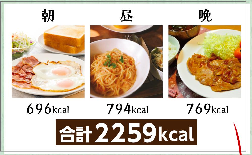 通常の食事