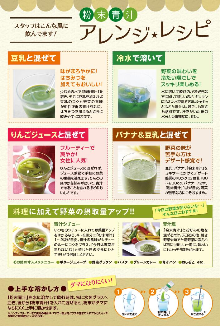 サンスター粉末青汁のアレンジレシピ